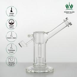 Bong di vetro alto 8 pollici Rigs Swing Arm Mini Rig vetro bong Dab Rigs Vetro Recycler Tubo dell'acqua da