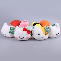 "Wholesale Japanese Child Dolls - Hot ! 4 Style Japanese Anime AMUSE Sushi Cat Stuffed Soft Plush Toy Doll For Child Best Gifts 7"" 18CM"