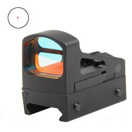 Wholesale Red Dot Scope Airsoft - Tactical Trijicon RMS Reflex Micro Red Dot Sight Scope Optical With Ventilated Mounting and Spacers For Airsoft Pistol HT5-0035