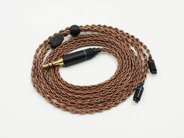 OCC 8 Strands 19 Core Плетеный MMCX / 2-контактный 0,78 мм HiFi Аудиофиль IEM Кабель для наушников Обновление наушников cheap mmcx cables от Поставщики mmcx кабели
