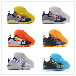 74cc9ec2f309 2018 Hot Sale Kobe A.D. Exodus Derozan Grayish Yellow Sai BHM Basketball  Shoes AAA Quality Multicolor Mens Trainers Designer Sneakers 7-12 shoes hot  kobe ...