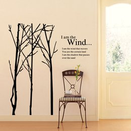 Wholesale Tree Branch Wall Decals Removable - New Large Tree Branch Words Wall Stickers Removable Decal Home Decor Vinyl Art Mural Free shipping