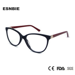 2c39fc939d7 fashionable frame spectacles Promo Codes - ESNBIE High Quality Ladies Cats  Eye Glasses Frames Retro Acetate