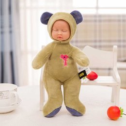 Wholesale Plastic Coffee Stick - 16 Styles 25CM Funny Stuffed Toys Sleeping Baby Soft Lovely Plush Simulation Dolls For Baby friend Good Romantic Wedding Gifts