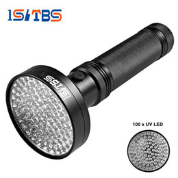 Wholesale laser hunting flashlight - 18W UV Black Light Flashlight 100 LED Best UV Light and Blacklight For Home & Hotel Inspection,Pet Urine & Stains