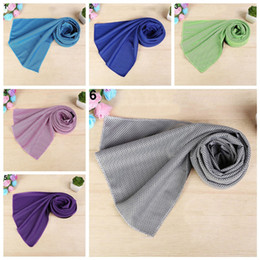 Wholesale Towels Packing - 100*30cm OPP Packing Ice Towel Sports Gym Jogging Enduring Running Instant Ice Cold Chilly Pad Cooling Towel Scarves GGA159 100PCS