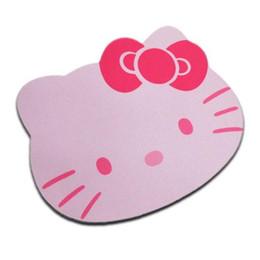 Colore nero online-Hello Kitty Cute Laptop Mouse Pad Mat Colore rosa / nero Prezzo all'ingrosso