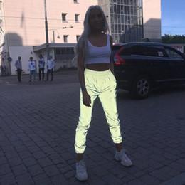 Sexy frauen harem hose online-Aktive Herbstkleidung Nachtleuchtende Freizeithosen Sexy Fashion Bling Club Leggings Pluderhosen Damen Jogginghosen Lange Hosen S-XL