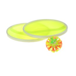 Wholesale baseball games toys - Wholesale-1 Set Outdoor Activity Game Funny Sticky Ball Game with 32 Suction Cup 2 Round Bats Toy Sports
