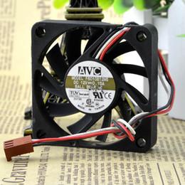 Fils de ventilateurs en Ligne-Pour AVC 6010 12V 0.15A 6CM / cm Double Ball 3-Fils CPU Case Fan F6010B12MS