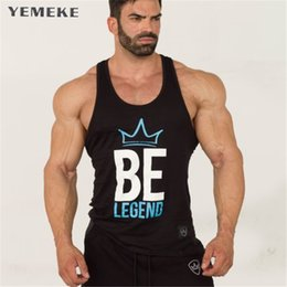 Wholesale modern boys - Yemeke Men Boys Casual Revolution Printing Tank Top Vest Bodybuilding Stringers Vests Male Singlets Summer Modern Trend