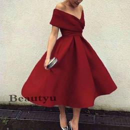 elie saab gris largo vestido Rebajas 2018 Nuevo vestido de cóctel sexy Borgoña más el tamaño del hombro Longitud del té Fiesta corta Vestidos de baile de alta calidad Homecoming vestido formal