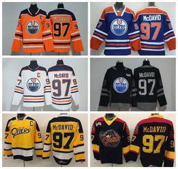 Wholesale Premier Men - Connor McDavid Jersey 97 Otters Premier OHL With COA Throwback Edmonton Oilers Jerseys Ice Hockey McDavid Uniforms Orange White Blue Black