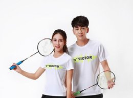 blue badminton t shirts Coupons - NEW Victor competition personality badminton wear t-shirt clothes,tennis jerseys sportswear for men,women table tennis t-shirt training