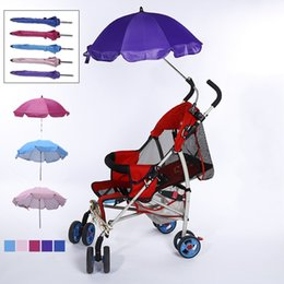 Wholesale Infant Carriages - New Light Stroller Umbrella Baby Carriage Infant Child Silver Colloid Sunshade Ultraviolet Proof Sunscreen Manual Sun Umbrellas 17xx V