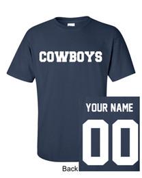 Short de cowboy homme en Ligne-Cowboys Nom Personnalisé Numéro Marine T-Shirt Jersey Personnalisé Dallas Tee S-5Xl T Shirt Pour Hommes Creative Blanc À Manches Courtes Personnalisé XXXL Groupe