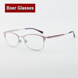 Frauen Schauspiel optischer Rahmen Glas klare Linse Vintage Anti-Radiation Brill