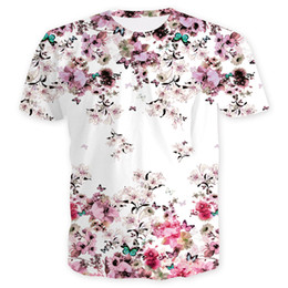 summer shirts designs flowers print Coupons - Wholesale Free Shipping fashion design women men flower chinese style 3d heat press summer hip hop t shirt top clothes plus size 3XL