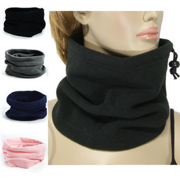 Wholesale 3in1 Ring - Hot Sale 1PC 3in1 Winter Unisex Ski Snood Scarf Women Men Fashion Thermal Fleece Scarf Snood Neck Warmer Face Mask Beanie Hats
