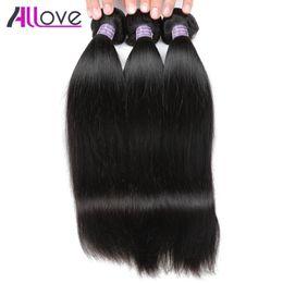 Wholesale Cheap Good Hair Extensions - 3 Bundles 8-28 inch Brazilian Virgin Remy Human Straight Hair Good Quality 10A Cheap Human Hair Extensions Peruvian Malaysian Indian Bundles