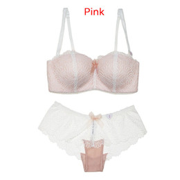 2fe3068f7b93e Chinese Tube Top Design Sexy Bra Set Lace Cup Thin Wireless Underwear  Accept Supernumerary Breast Shaping