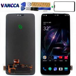 100% geprüfte AMOLED LCD-Anzeige für Oneplus 6-Touchscreen 1080X2280 Digitizer Assembly 6,28 Zoll Freies gehärtetes Glas und Werkzeuge von Fabrikanten