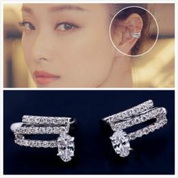 Wholesale Clip Earrings Star - Ear bone clip star with the same paragraph ladies and European temperament wild non-pierced ear clip Earrings Earrings