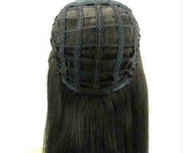 Wholesale Pelucas de media cabeza de cabello humano caídas peluca recta remy virginal del pelo humano pelucas sin cordón para afroamericano colores