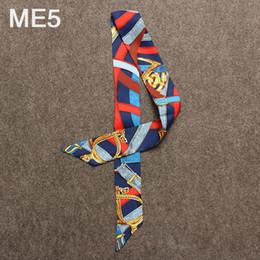 Color Stitch Original Abstract seaside wearing Fashion Print Silk Scarf Women Brand Sciarpa Head HandBag Long Sciarpe Accessori cravatta femminile cheap women s head accessories da women s head accessories fornitori