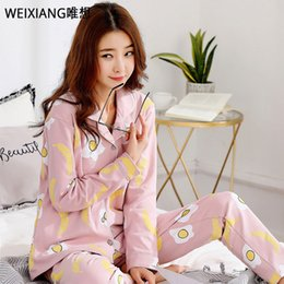36a4ae384d Cute cartoon 100% cotton pyjamas women pajamas sets autumn polar bear 100%  Brushed cotton women sleepwear pijamas mujer