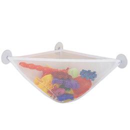 cestini appendiabiti Sconti Sacchetto di immagazzinaggio appeso dell'organizzatore del giocattolo del bagno 3 forti tazze di aspirazione acquazzone del sacchetto del carrello del carrello di immagazzinaggio del bagno cestino per il bambino