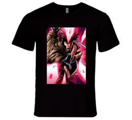 Дисконтная карта онлайн-Гамбит, супергерой X-мужчины кино карта футболка с коротким рукавом плюс размер скидка горячая новый топ бесплатная доставка футболка