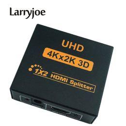 2019 hdmi vga splitter Larryjoe New 4K HDMI Splitter Vidéo Full HD 1080p HDMI Commutateur HDMI 1X2 Double Écran Pour HDTV DVD PS3 Xbox hdmi vga splitter pas cher