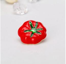 broches de acción de gracias Rebajas Vintage Halloween Tomato esmalte unisex Metal Fit All Brooch Pin Halloween Acción de Gracias Gran Idea Regalo de la joyería