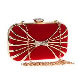 2018 Nuevo Rojo Negro Mujeres Fahion Bolso de Noche de Lujo Oro Metal Bling Diamond Diseño de Marca Bolso y Monederos de Boda para Damas de Fiesta desde fabricantes