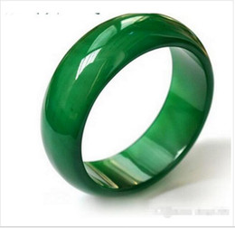 Wholesale Man Ring Jade Silver - Wholesale - Natural agate jade ring Thumb index finger size crystal ring finger Men and women fashion jade ring