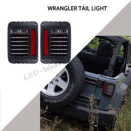 Wholesale Led Jeep Tail Lights - Free shipping 10pairs LED tail light signal turn Running Brake light for Jeep Wrangler JK 07-15