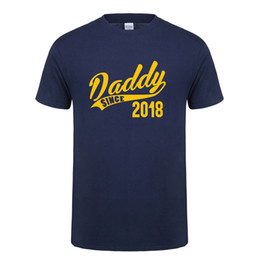 Wholesale Funny Baby Shirts - Omnitee New Daddy Since 2018 T Shirt Men Casual Cotton Short Sleeve Funny Baby Dad Father T-shirt Mans Tshirt Camiseta OT-936