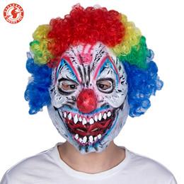 Máscara de palhaço mau on-line-Máscara de látex do dia das bruxas adulto mask mens mal assustador última palhaço máscara de riso