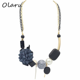 Wholesale Multi Chain Bib Necklace - whole saleOlaru Fashion Ball Flower Bib Choker Necklace For Woman Multi-layer Big Statement Necklace New 2017 Jewelry Christmas SALE Gift