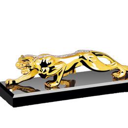 Wholesale aroma decoration - Leopard zinc alloy car perfume is pure and fresh car interior creative aroma sedan ornaments car decoration products