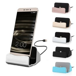 Wholesale Iphone Cradle Stand Charger - Universal Quick Charger Docking Stand Station Chargers Cradle Charging Sync Dock V8 Lightning Type C For Samsung S6 S7 Edge Note 5 iPhone 5S