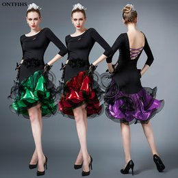 frühling karneval kleider Rabatt Frauen Latein Tanz Kleid Erwachsene Kostüm Ballsaal Rumba Cha-cha Samba Cowboy Dance Kostüme Tango Kostüm Frau Latin Kleid L-24
