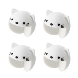 Wholesale Cat Protectors - Cute corner cushion 4 pieces set Corner pad protector Animal baby Safety measures for children's kids (Cat Bear)