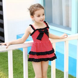 Wholesale America Swimsuit - Swimdress Girl New Swimsuit Back To Ancient Times In Europe and America Siamese Girl Children's Swimsuit Wholesale
