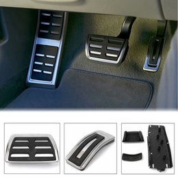 Wholesale Accessories For Foot - Car Foot Rest Fuel Brake Pedal Plate Cover Set for AUDI A4 S4 A5 A6 Q5 S5 A7 Car Styling Accessories