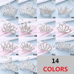 Wholesale korean hair style ladies - Korean Style Diamond Cute Crown Inserting Comb Baby Princess Headwear Alloy Hairpin Girls Lady Headwear Hair Accessories D0370