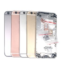 Wholesale Rear Case - For iPhone 6S Back Battery Cover Rear Door Housing Case Middle Chassis Replacement For Apple iPhone 6S Back Housing