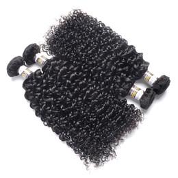 2019 18 pulgadas de pelo malayo rizado 10a Kinky Curly Hair Malaysian Kinky Curly Hair Weave Bundles 100% Remy Extensión de cabello humano 10-28 pulgadas Color natural rebajas 18 pulgadas de pelo malayo rizado