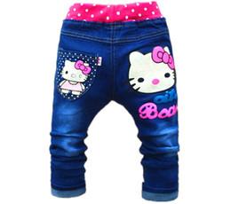jeans coreani dei capretti Sconti I vestiti coreani dei bambini liberi di trasporto ciao i jeans delle ragazze del gattino per i bambini 2-5years i pantaloni dei jeans delle ragazze dei pantaloni dei bambini